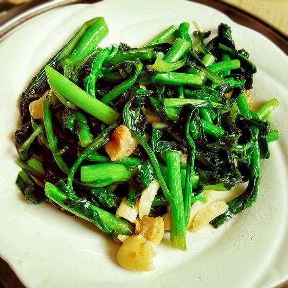 豆腐炒菜心