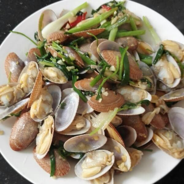 长豆炒花蛤