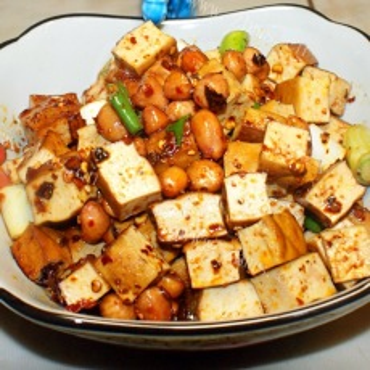 我的卤香花生煎豆腐