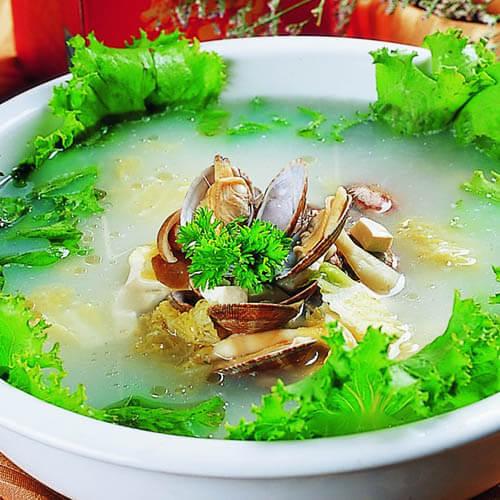 草头白蛤汤