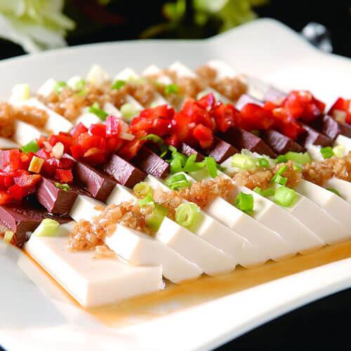 健康的咸蛋蒸豆腐