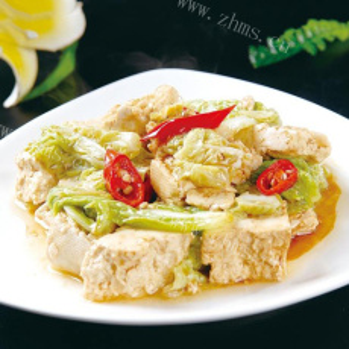 自制圆白菜炒豆腐干