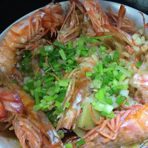 好吃的薄荷蒜蓉虾