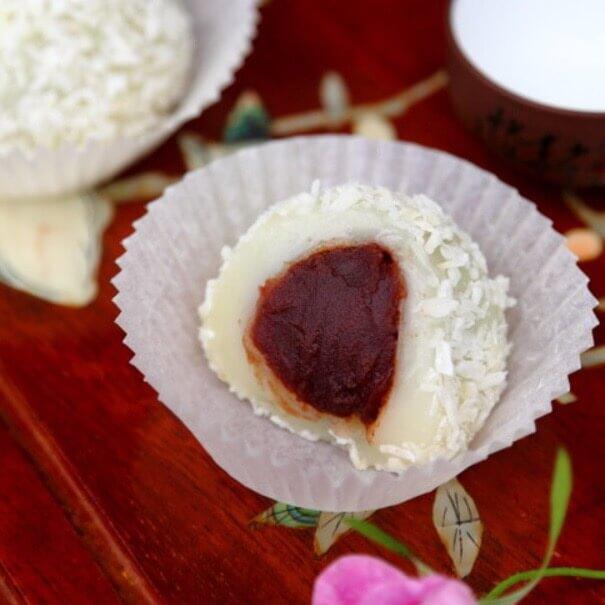 红豆糯米糍-简单版