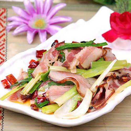 香香的韭黄炒腊肉