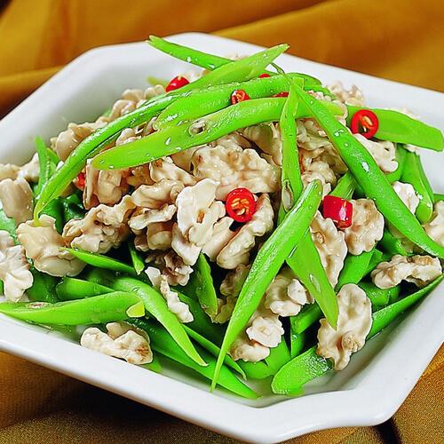 咸肉炒四季豆