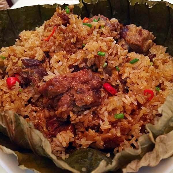 荷叶排骨土豆糯米饭