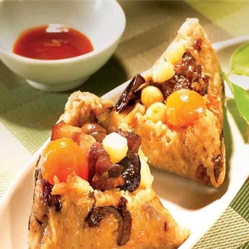 香菇卤肉板栗粽