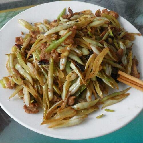 肉丝青椒炒芸豆