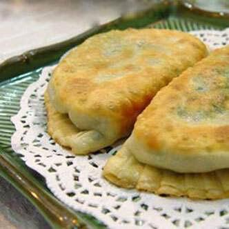 芹菜鸭蛋饼