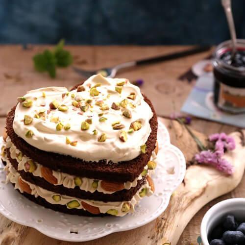 南瓜坚果蛋糕