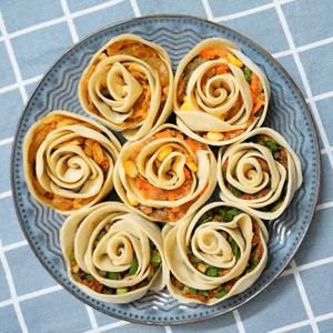 牡丹花馅饺子