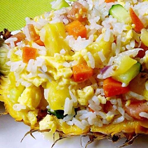 炒菠萝水果饭