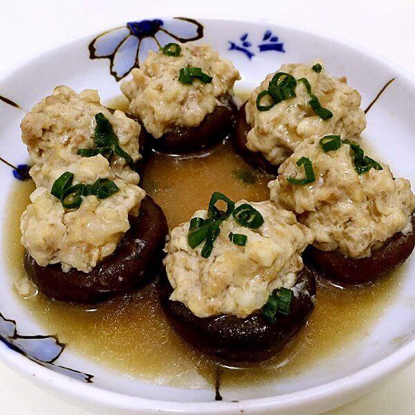 菰米肉蛋酿香菇