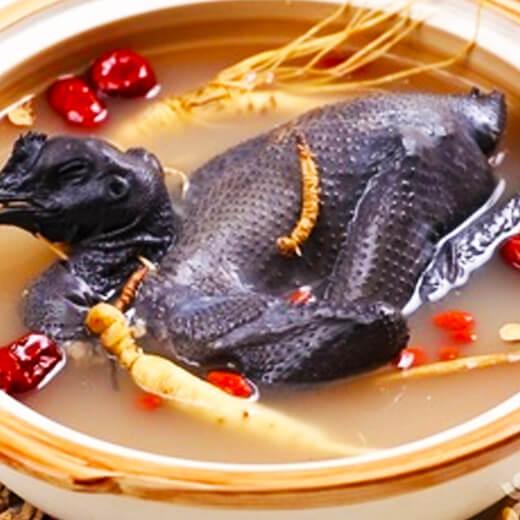 蟹味菇乌鸡汤