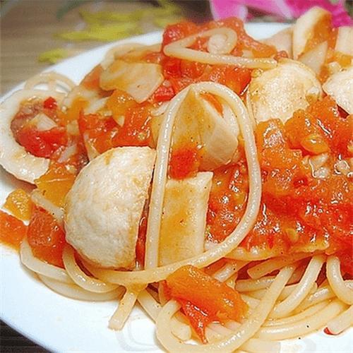 茄汁鱼丸面