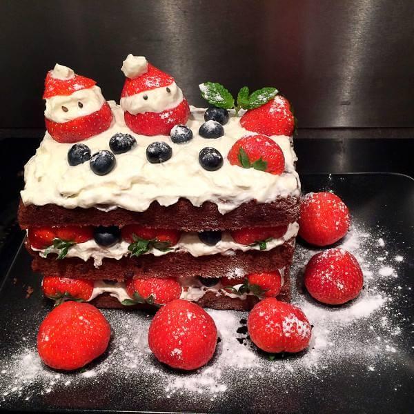 圣诞老人裸蛋糕
