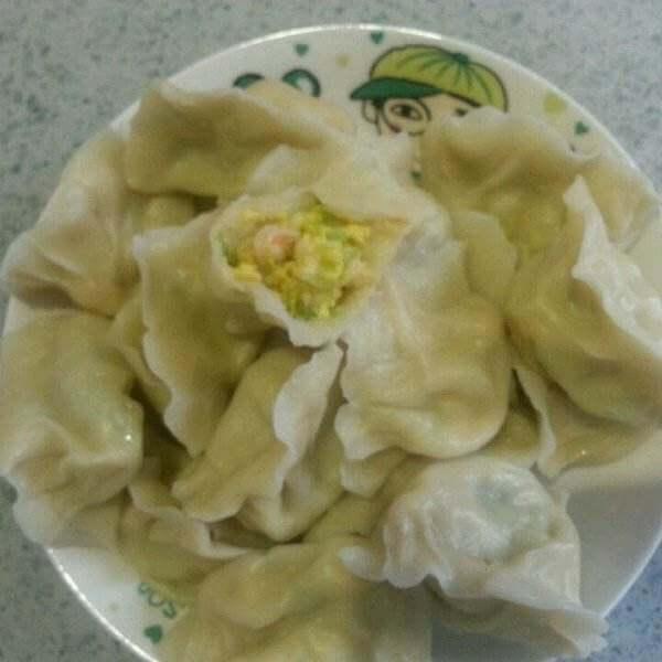 小黄瓜鸡蛋麦穗饺