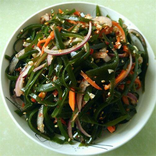青椒海带炒肉