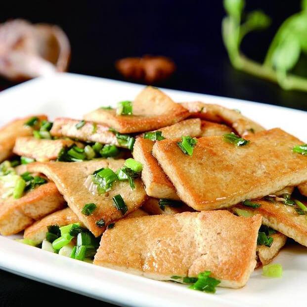 香葱煎豆腐