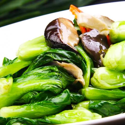 双菇炒青菜