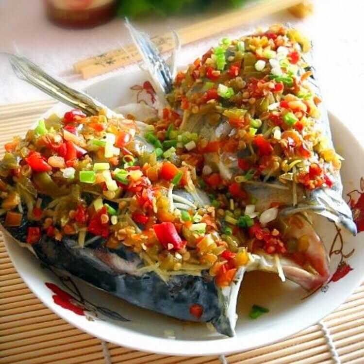蒜米双色鱼头