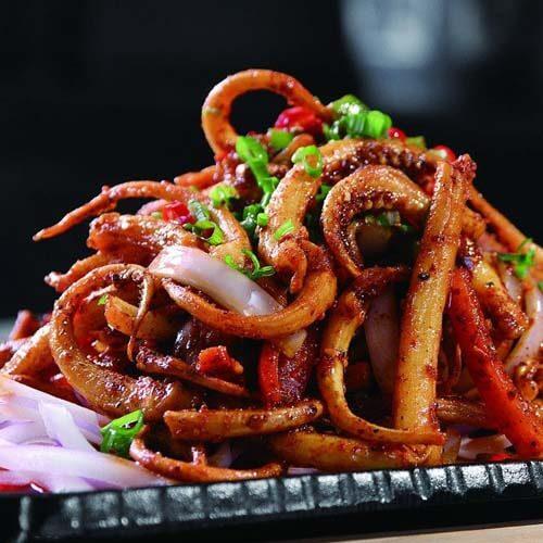 香菇鱿鱼炖五花肉