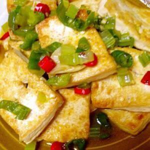 卤香花生煎豆腐