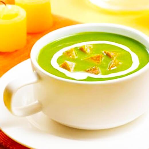 家常鲜虾菠菜浓汤