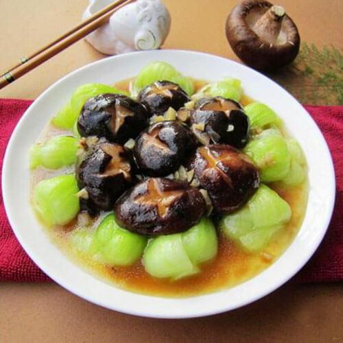 蚝油油菜香菇