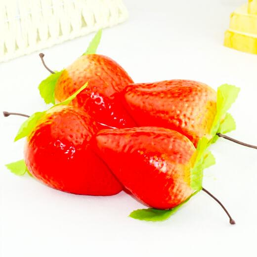 仿真草莓果仁饭团