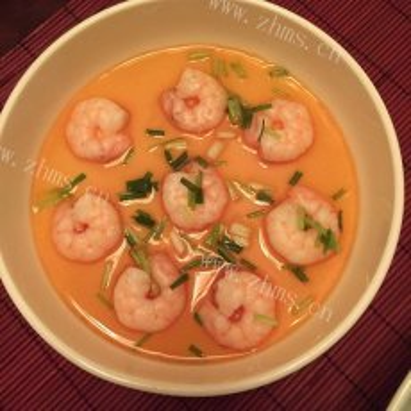 营养的大海虾蒸水蛋