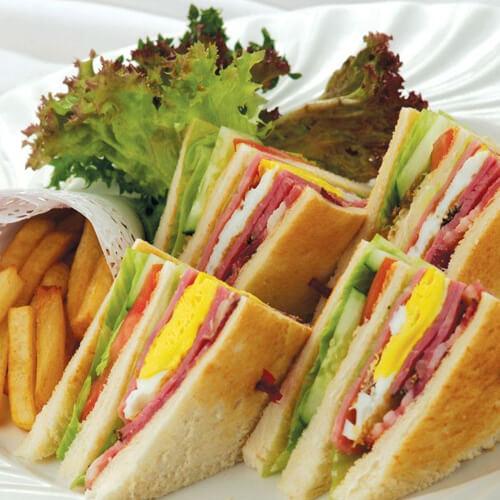 自制猪排奶酪三明治
