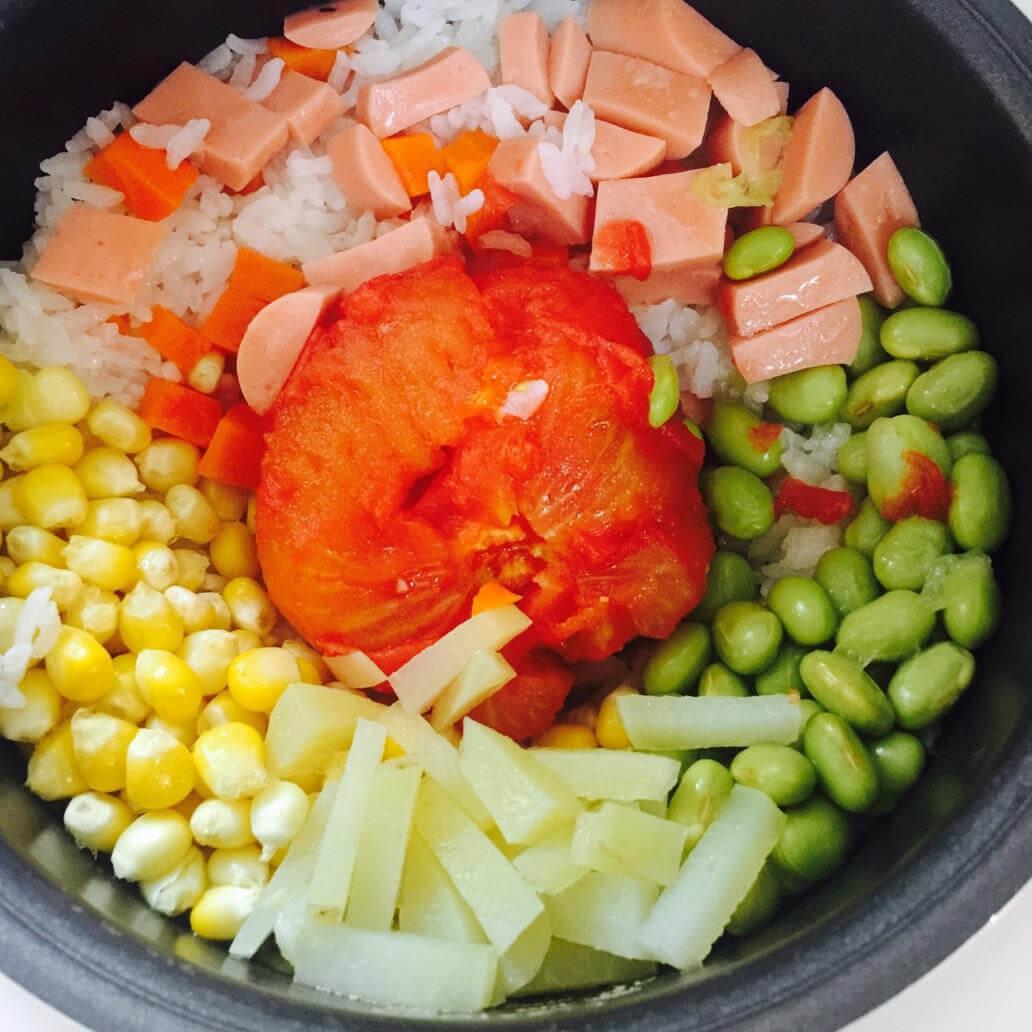 电饭锅西红柿饭