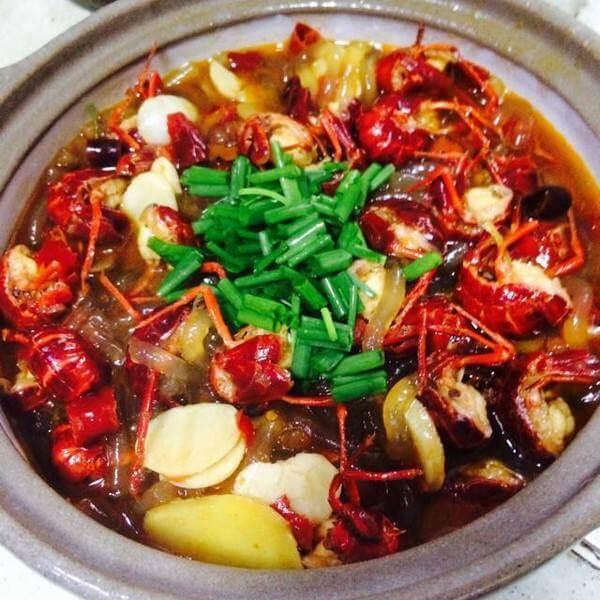 豆豉杂蔬魔芋卧虾