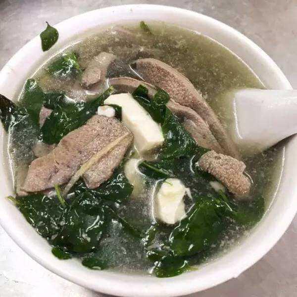 鸡毛菜猪肝汤