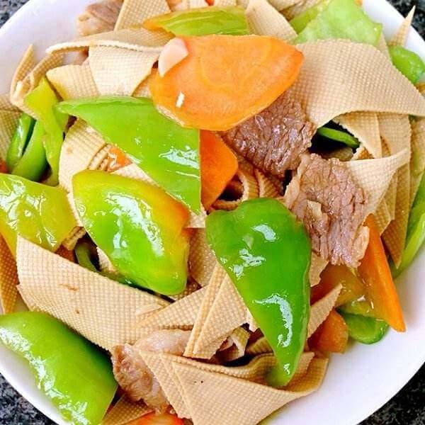 土豆干豆腐炒尖椒