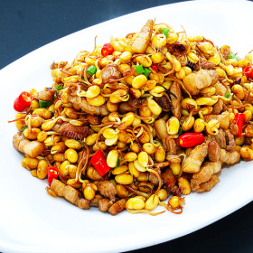 肉丁炒酸豇豆