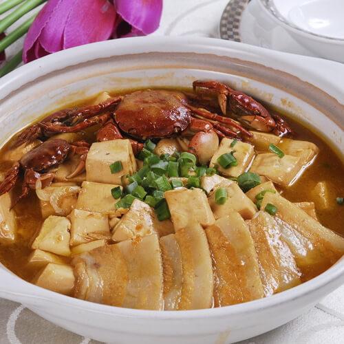 卤笋土豆煮豆腐