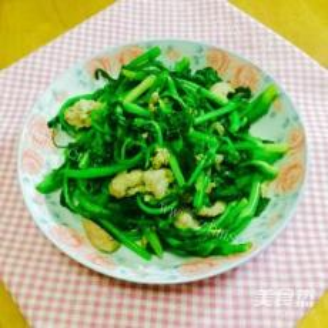 DIY美食-豆腐炒菜心