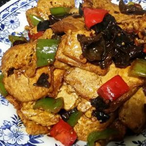 豆豉炒香干豆腐