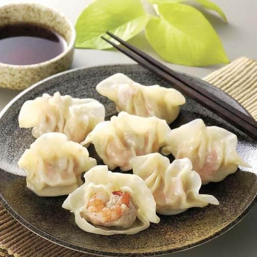 虾仁三鲜饺子