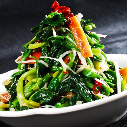 台湾肠炒波菜