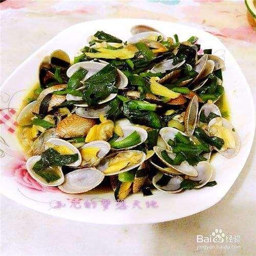 鲜美白蛤蜊炒韭菜