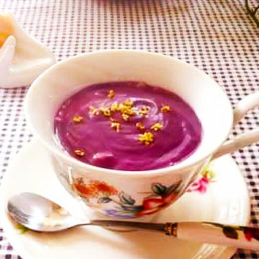 紫薯燕麦牛奶羹