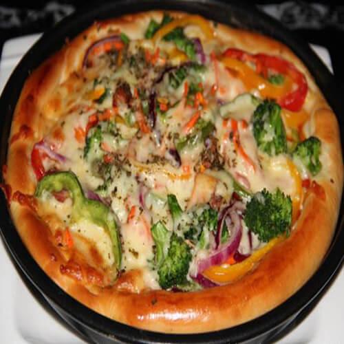 好吃的香葱培根披萨