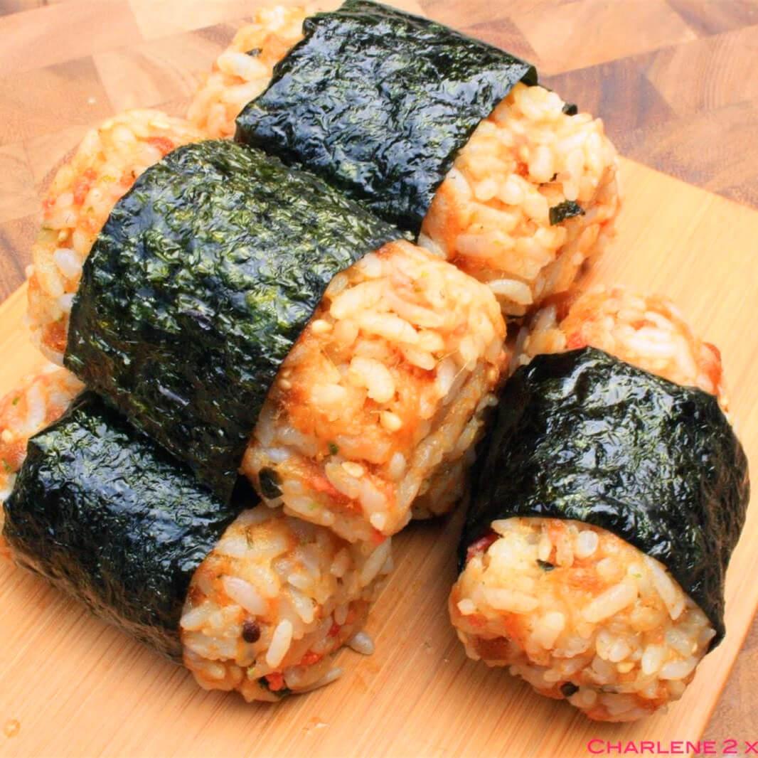 美味的肉松反转寿司