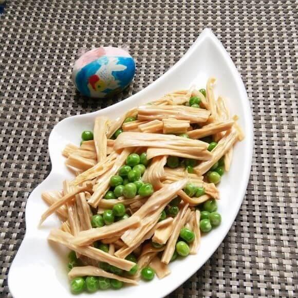 怀念的鸡汁青豆腐竹