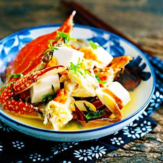 DIY美食-冻豆腐肓蟹煲