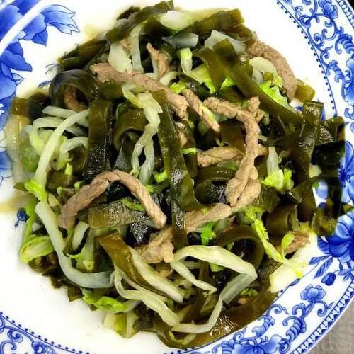 海带丝烧圆白菜